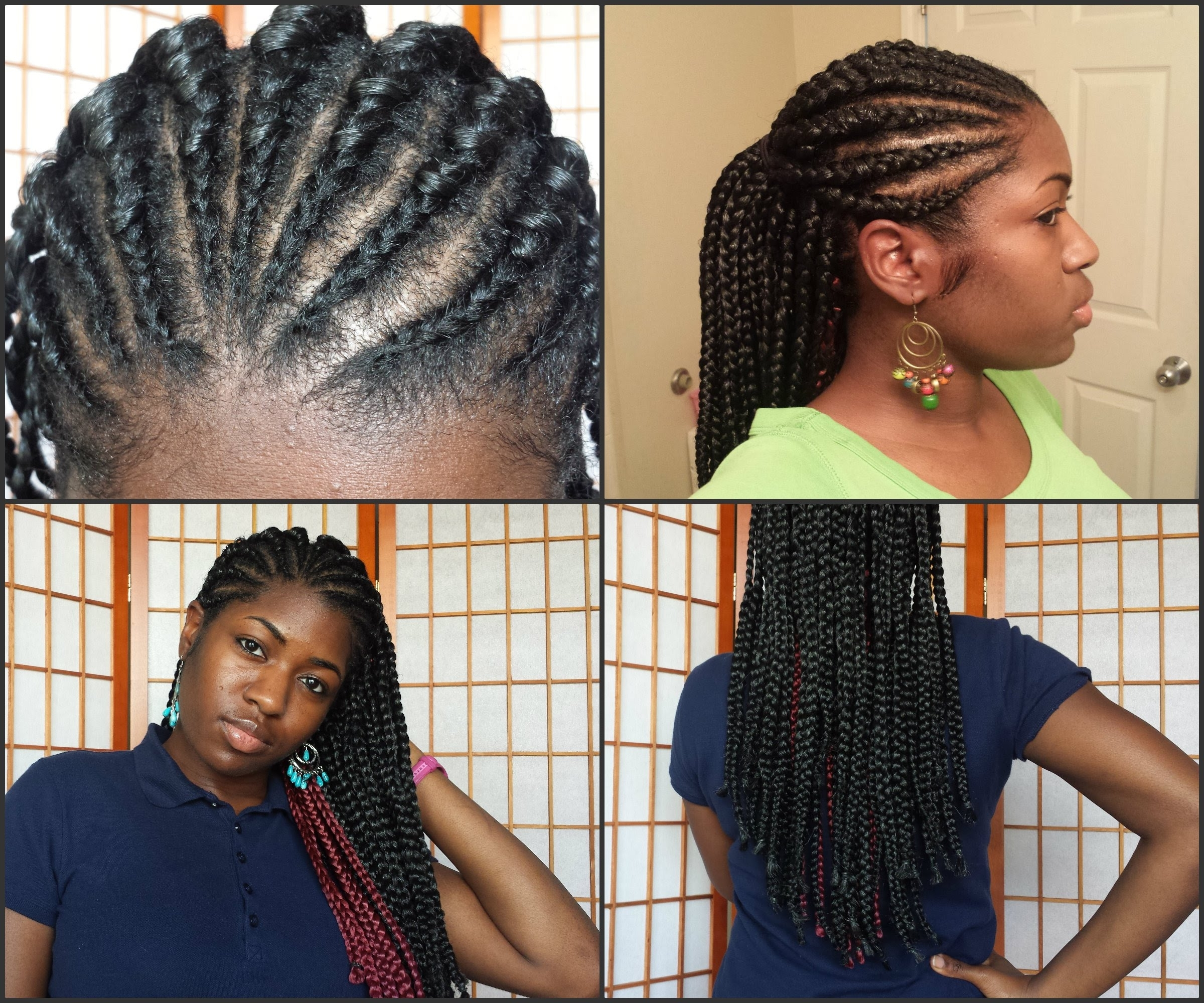 Cornrows + Box Braids = Too Cute!💖 – Youtube With Most Up To Date Two Cornrow Boxer Braids (View 4 of 15)