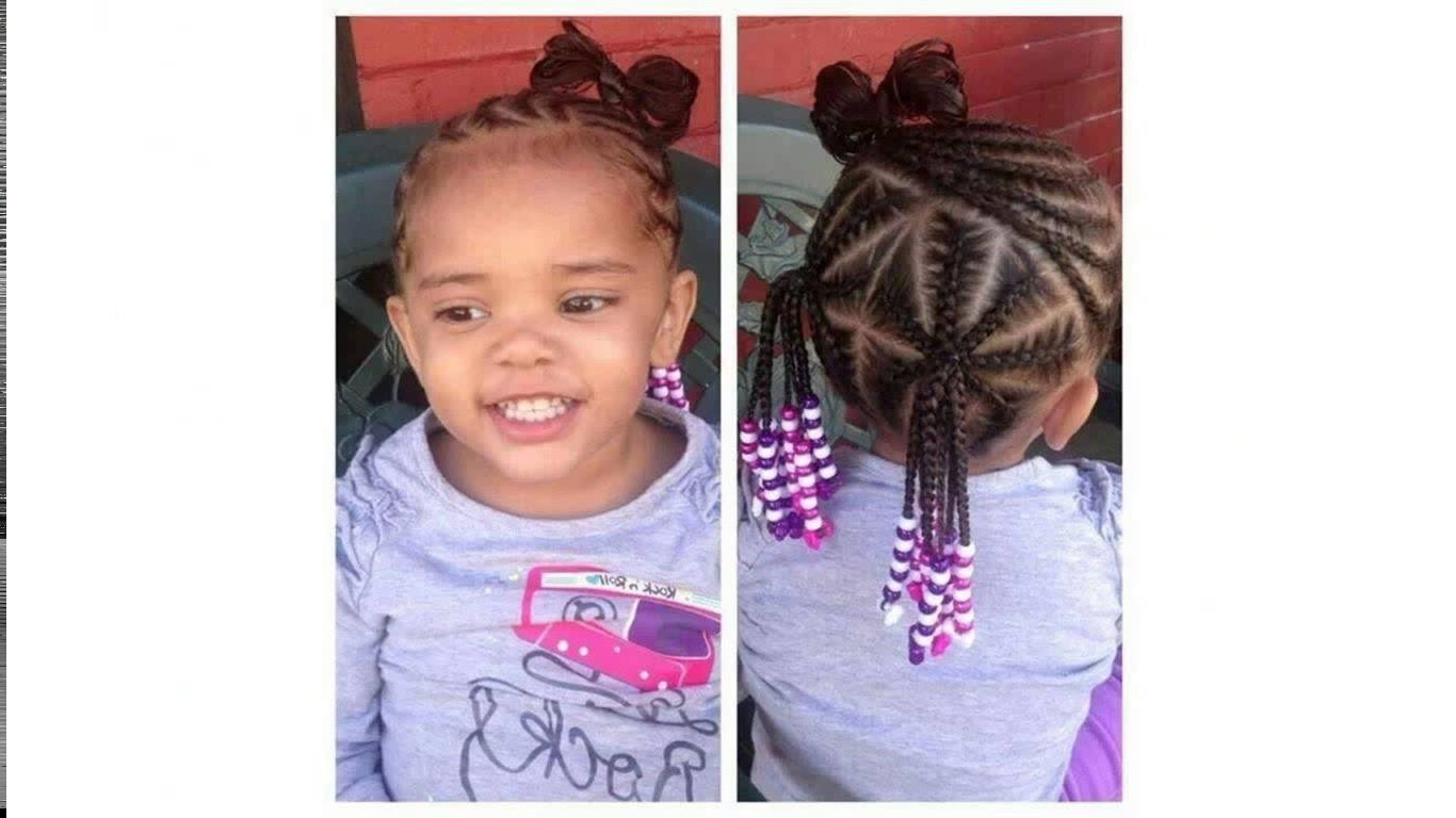Cornrows Hairstyles For Little Girls – Youtube With Regard To Latest Cornrow Hairstyles For Little Girl (View 4 of 15)
