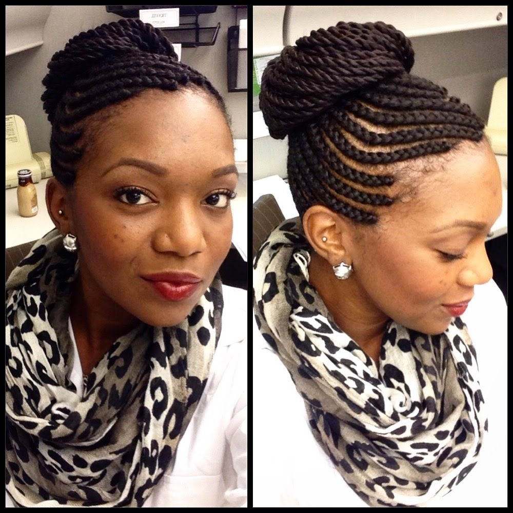 Featured Photo of Cornrows With High Twisted Bun