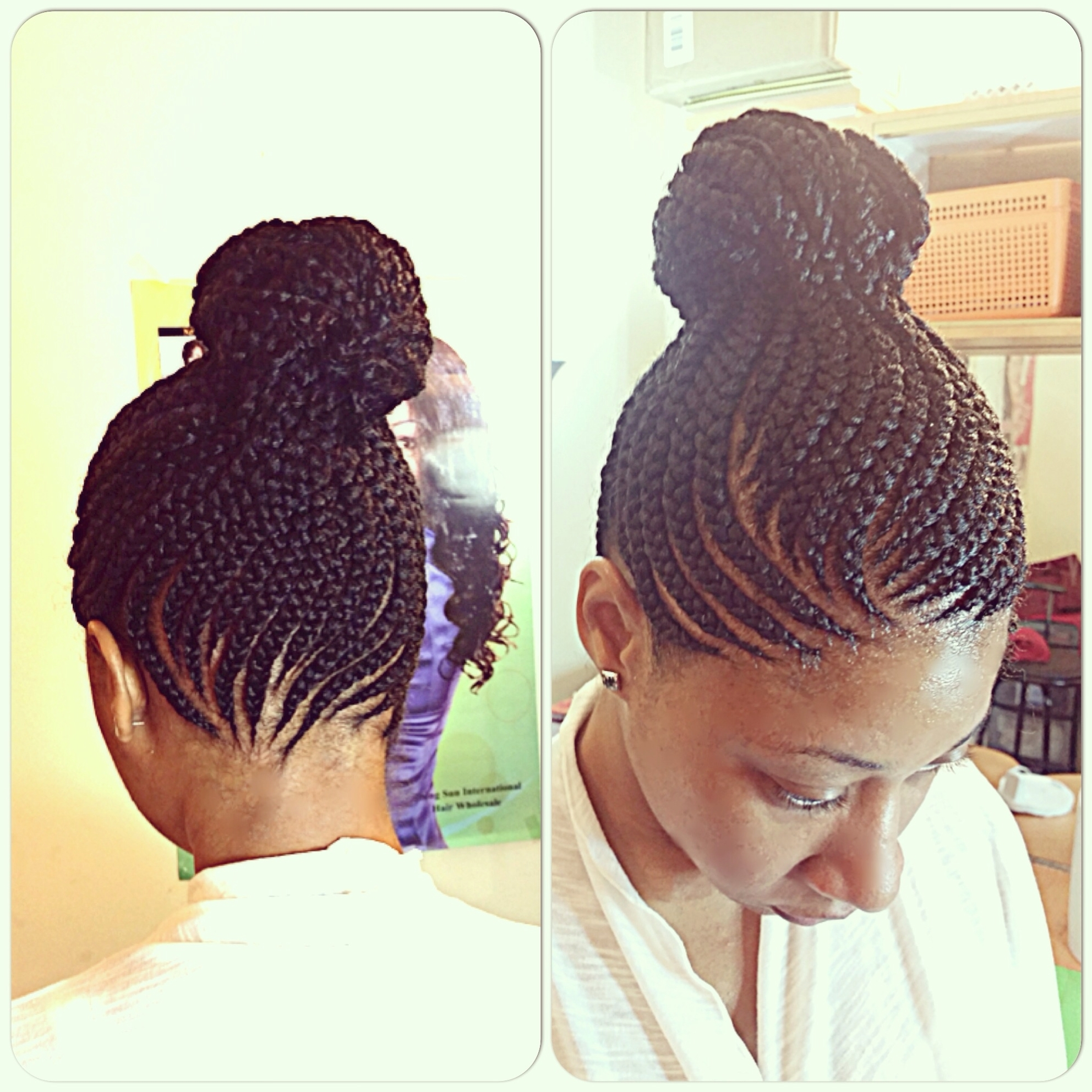 Cornrows Into A High Bun Latest Cornrow Best Of Cornrow Bun With 2018 Cornrows Hairstyles With Buns (View 6 of 15)