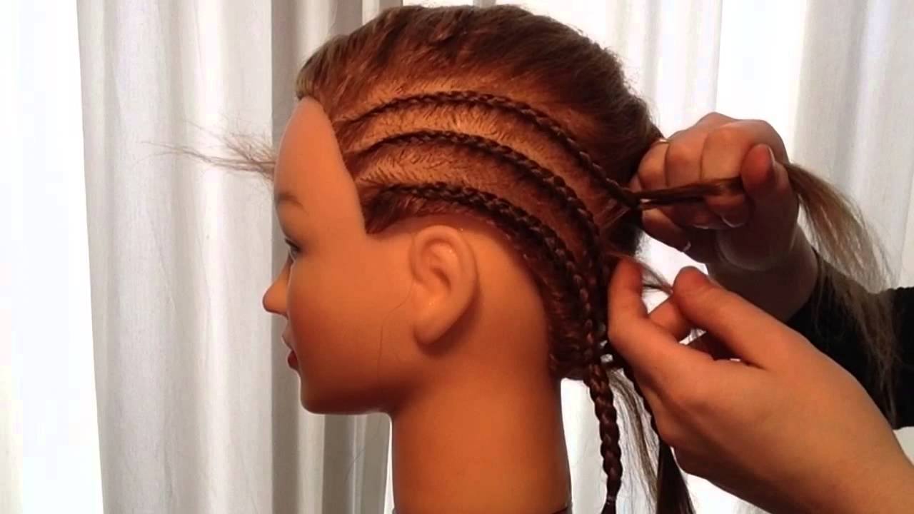 Cornrows Like Shakira With French Braid – Cornrows Met Invlecht Pertaining To Preferred Side French Cornrow Hairstyles (View 4 of 15)