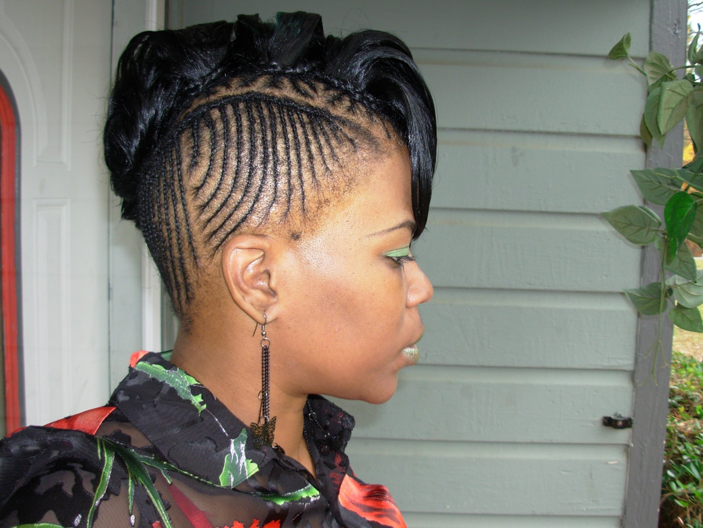 Cornrows Mohawk Hairstyles For Black Women Natural Braided Mohawk Regarding Preferred Cornrows Mohawk Hairstyles (View 9 of 15)