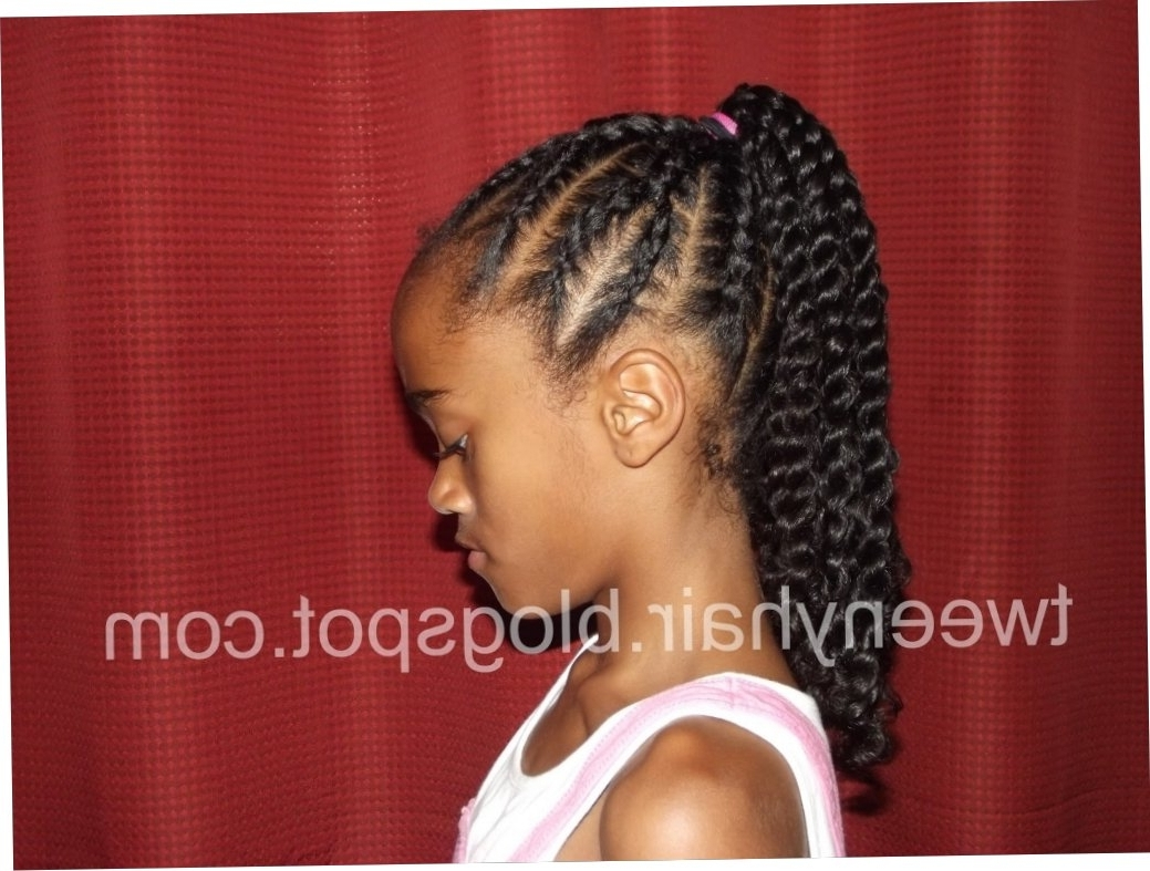 Cornrows Ponytail Hairstyles Tweeny Hair Y Shaped Cornrows Into A With Regard To Favorite Cornrows Ponytail Hairstyles (View 13 of 15)