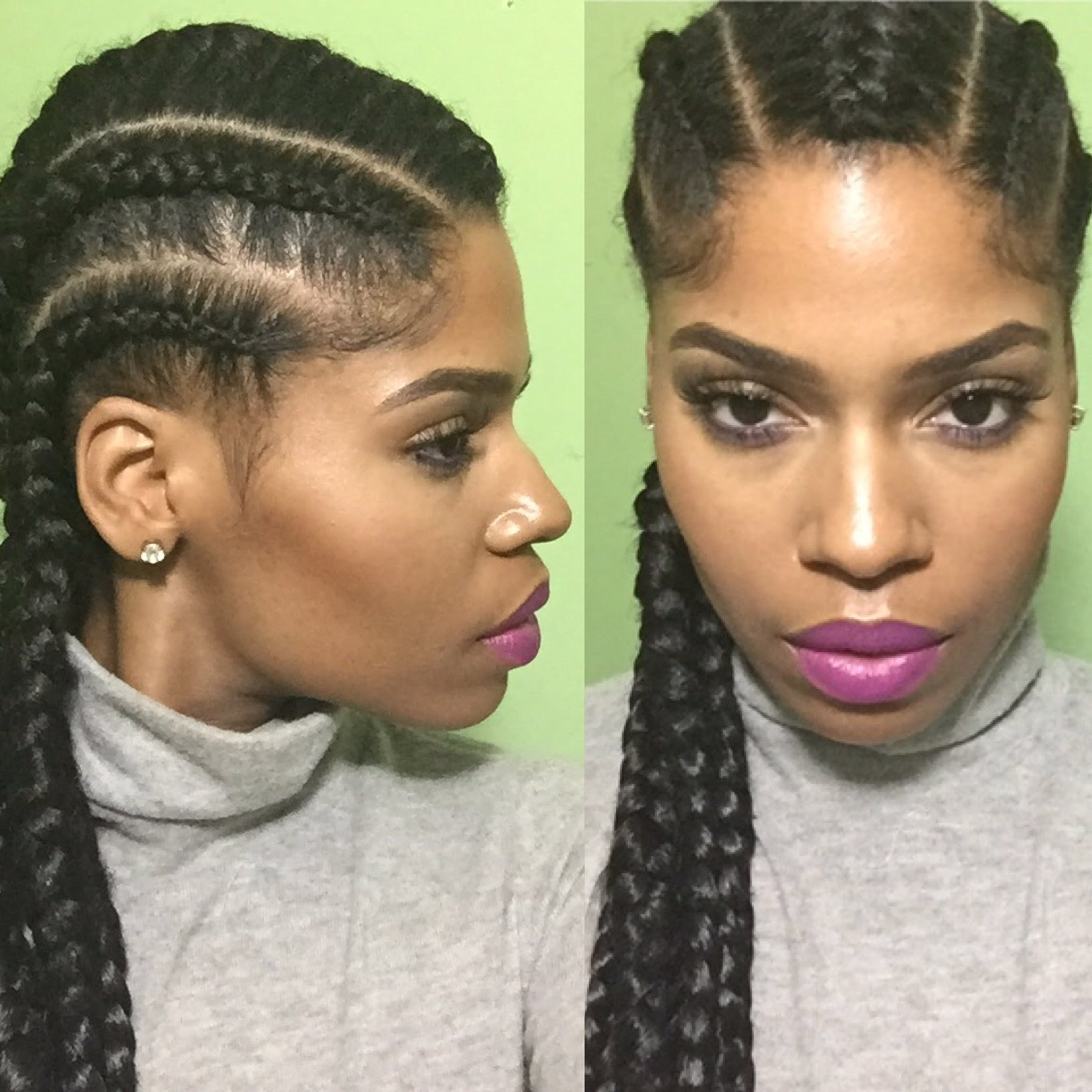 Cornrows To The Back Protective Hairstyles Intended For Famous Cornrows Hairstyles To The Back (View 15 of 15)
