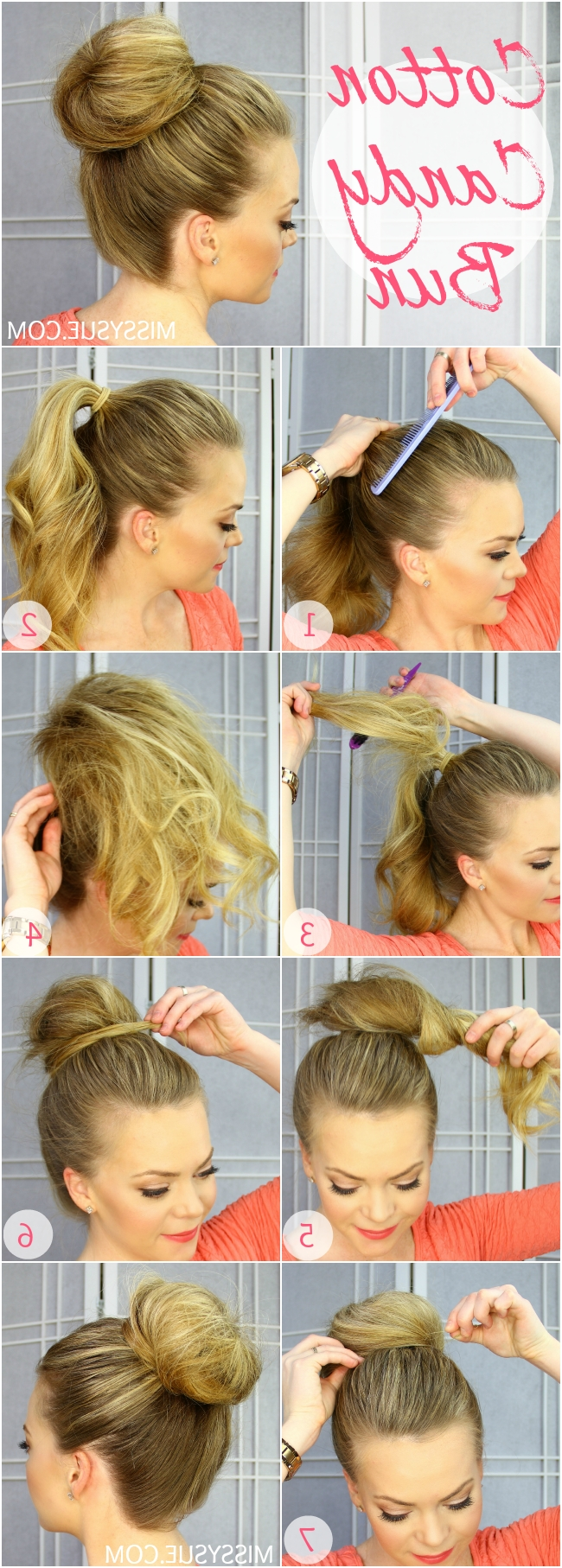 Cotton Candy Bun Inside Most Popular Cotton Candy Updo Hairstyles (View 3 of 15)
