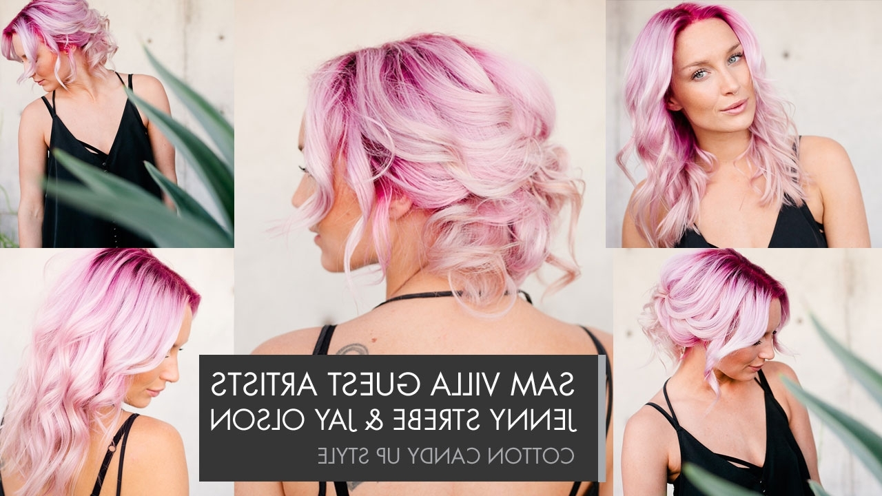 Cotton Candy Up Style With Regard To Most Popular Cotton Candy Updo Hairstyles (View 8 of 15)