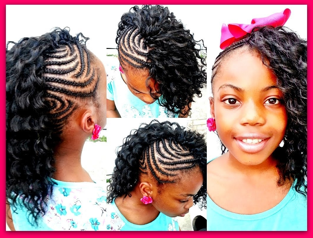 Crochet Braids: Side Mohawk! (Slow Motion) – Youtube With Regard To Well Known Box Braids And Cornrows Mohawk Hairstyles (View 4 of 15)