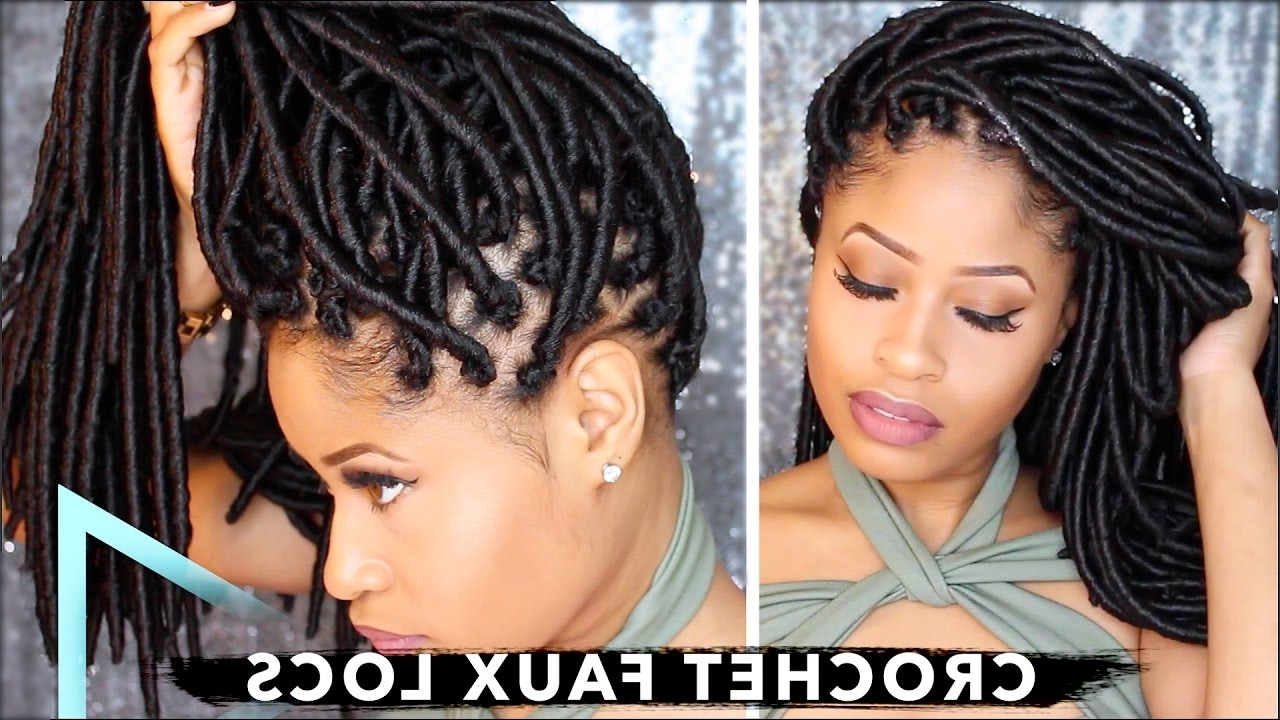 Crochet Faux Locs Tutorial – No Cornrows, No Wrapping With Free With Regard To Latest Dreadlock Cornrows Hairstyles (View 4 of 15)