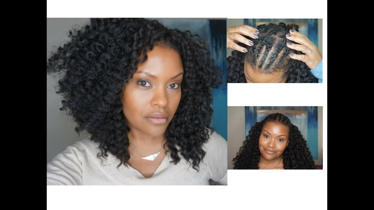 Crochetbraids How To – Quick Andeasy Crochet Braids (alopecia, Fine With Regard To Popular Cornrows Hairstyles For Receding Hairline (View 5 of 15)