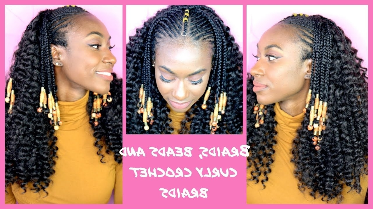 Curly Crochet Braids With Fulani Braids And Beads Ll Ft (View 4 of 15)