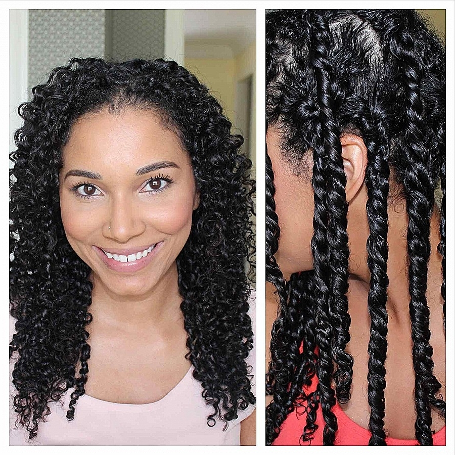 Curly Hairstyles: Beautiful Hairstyles For Curly Mixed Girl Hair Inside Favorite Mixed Braid Updo For Black Hair (View 7 of 15)