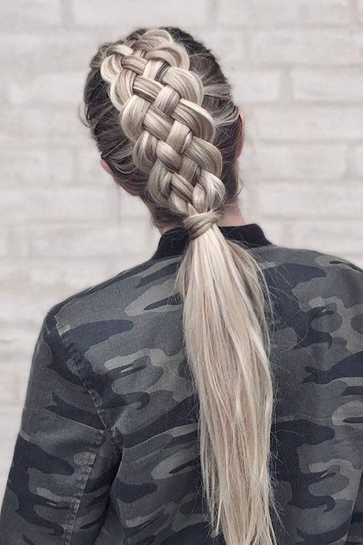 Current Blonde Pony With Double Braids Intended For The Ultimate Hair Hack To Instantly Make Your Plait Prettier (View 11 of 15)