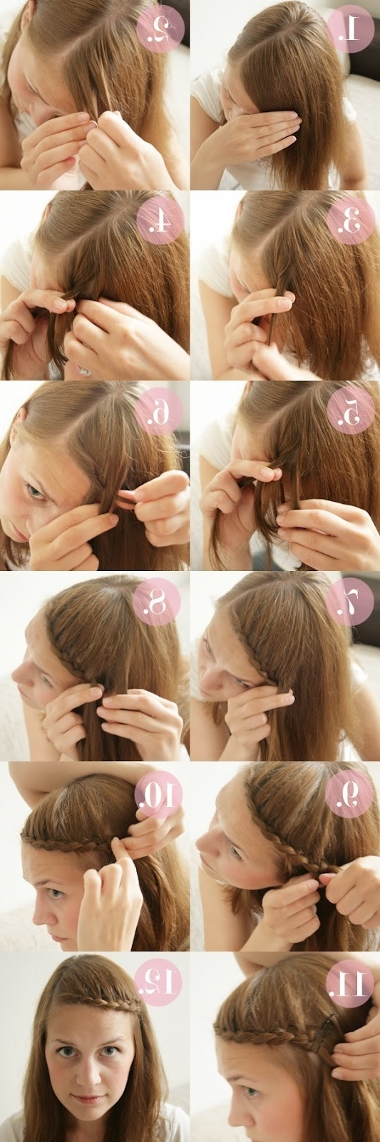 Current Braid And Side Bang Hairstyles Throughout 15 Braided Bangs Tutorials: Cute, Easy Hairstyles – Pretty Designs (View 3 of 15)