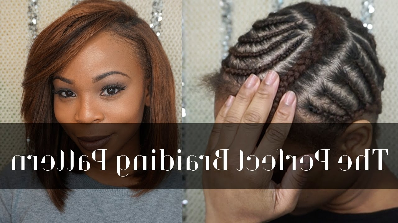 Current Braid And Side Bang Hairstyles With Regard To Braiding Pattern For A Side Part – Youtube (View 5 of 15)
