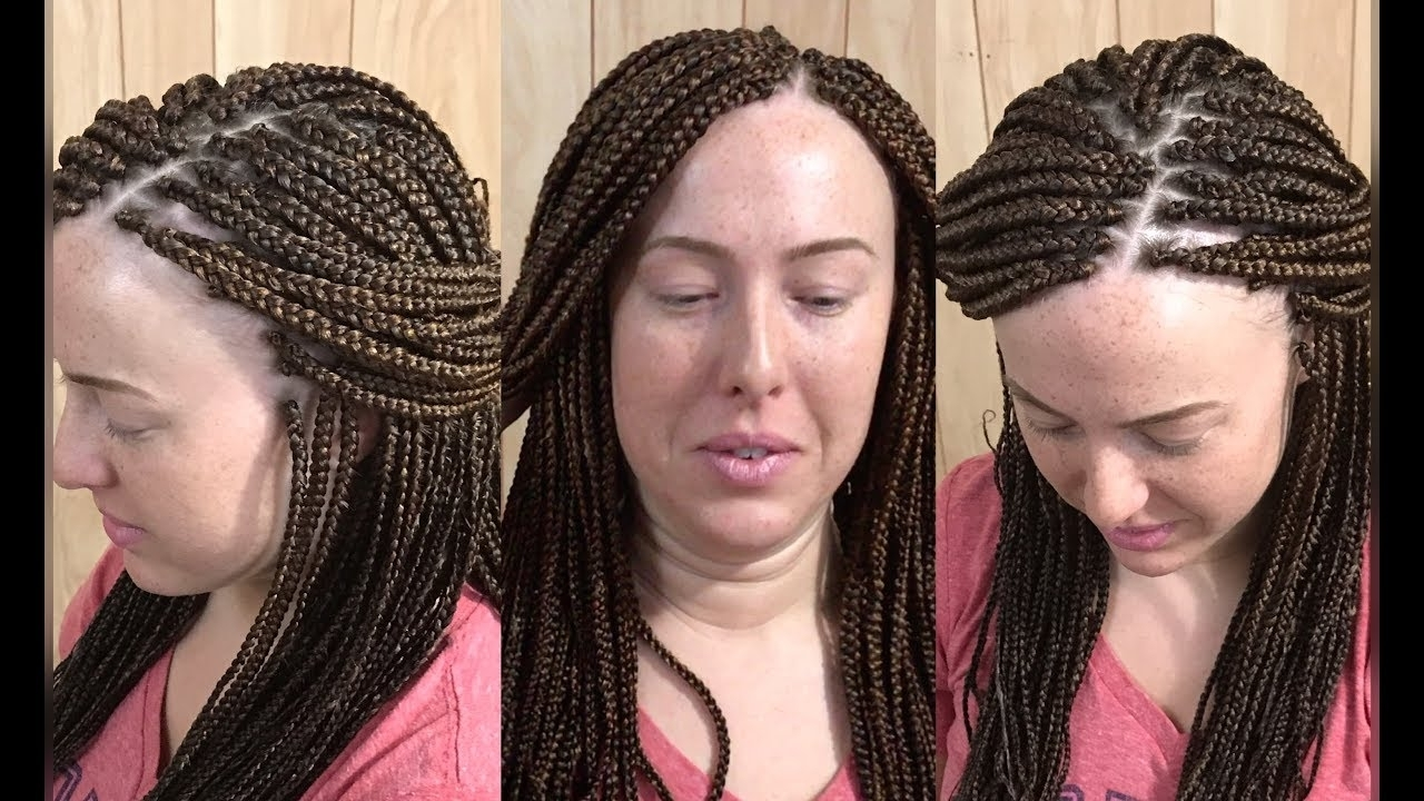 Current Cornrows Hairstyles With White Color Intended For Color Blend//box Braids//caucasian – Youtube (View 5 of 15)