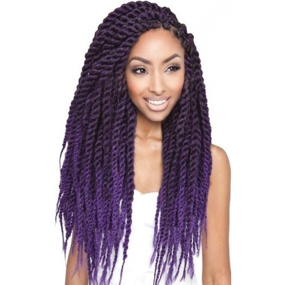 Current Cute Jumbo Twist Braids Regarding Color: T1b/purple (jumbo Twist) Very Cute (View 5 of 15)