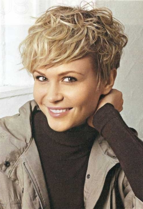 Current Finely Chopped Buttery Blonde Pixie Haircuts In 20 Stylish Wavy & Curly Pixie Cuts For Short Hair (View 6 of 15)