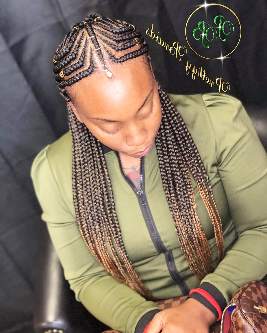 Current Geometric Tribal Fulani Pattern Braids With Curly Wisps Throughout Renobraider Instagram Tag – Instahu (View 5 of 15)