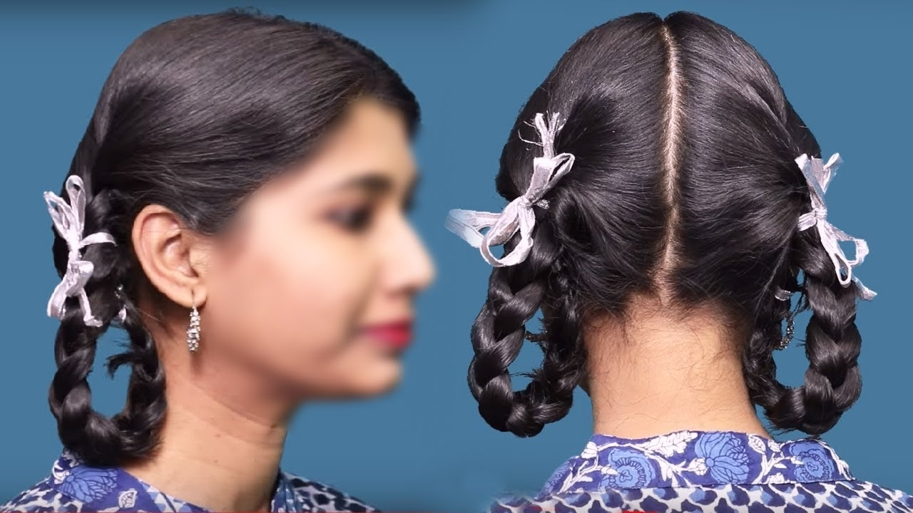 Current Twin Braid Updo Hairstyles Within Easy Hair Styles School Hair Styles (View 6 of 15)