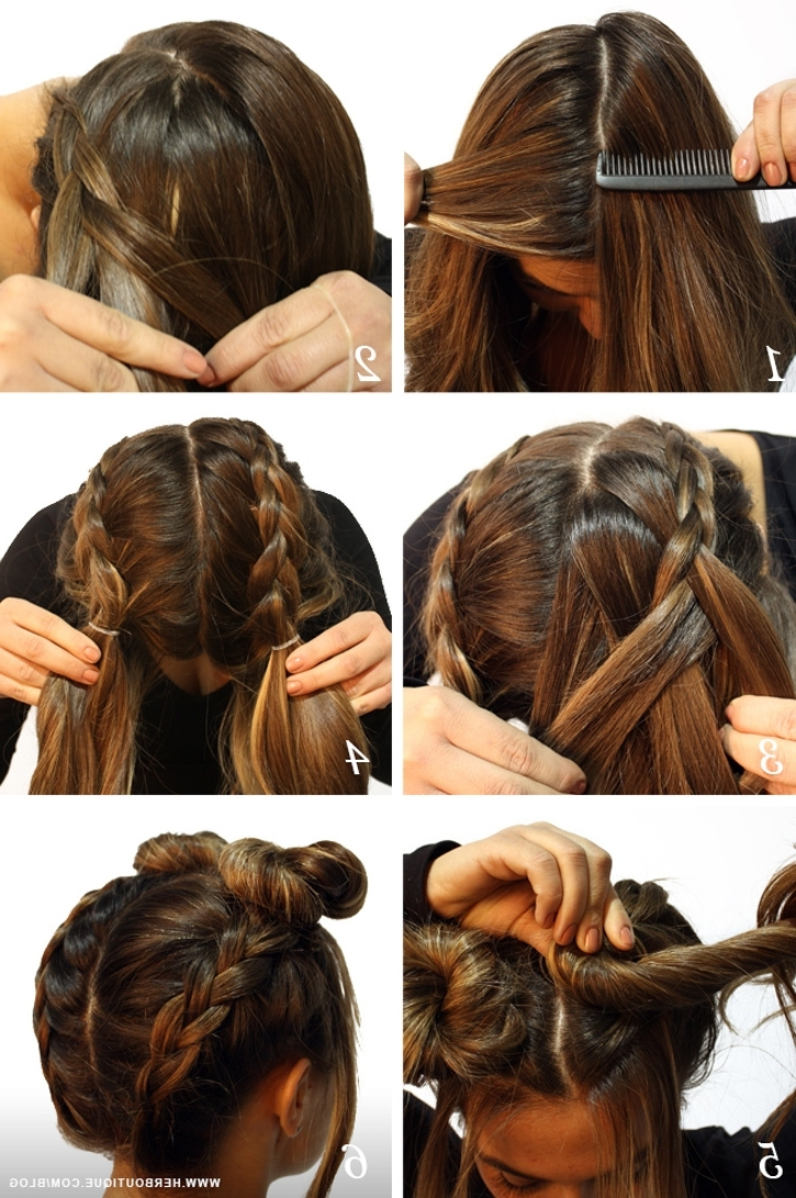 Current Upside Down Braids With Double Buns Throughout Her (View 9 of 15)