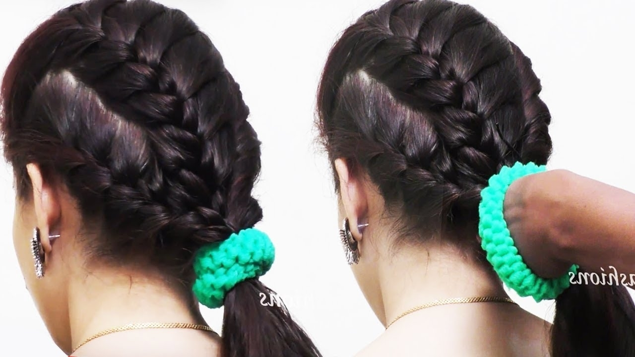 Current Zipper Braids With Small Bun With Regard To Zipper Braid Hairstyles Tutorial  (View 2 of 15)