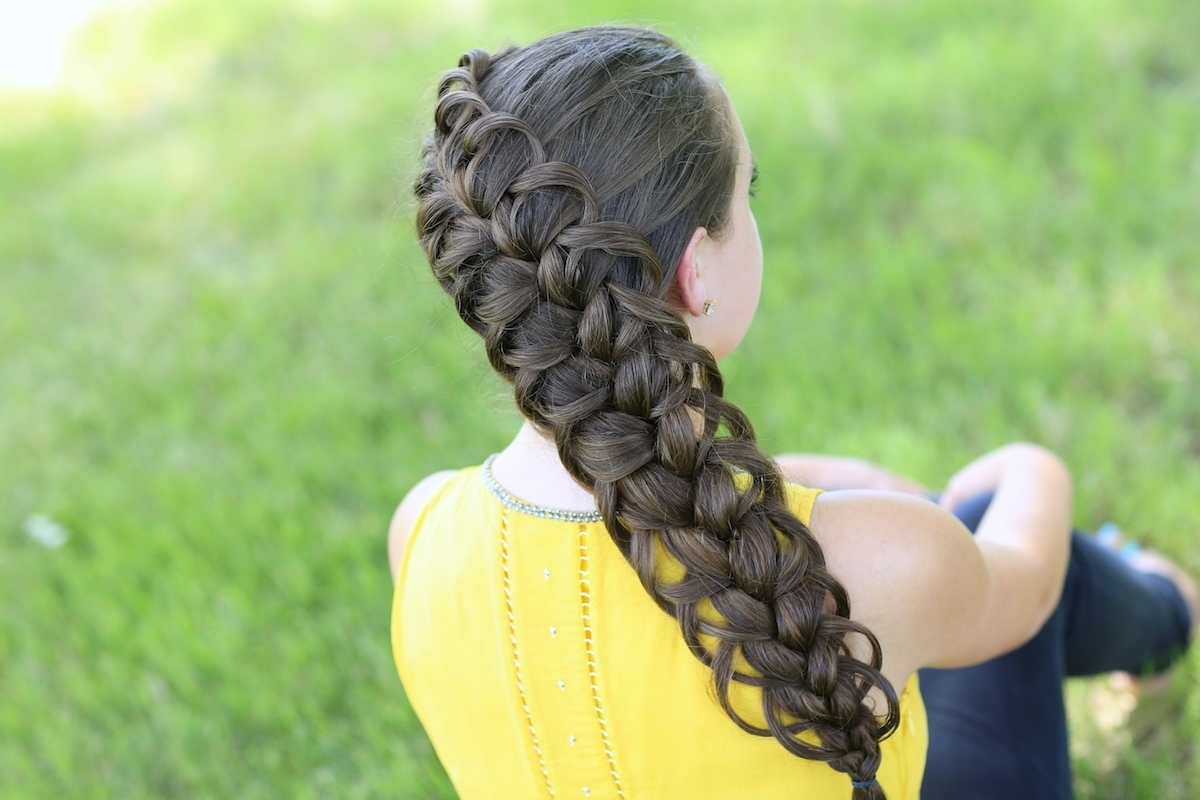 Featured Photo of Diagonal French Braid Hairstyles