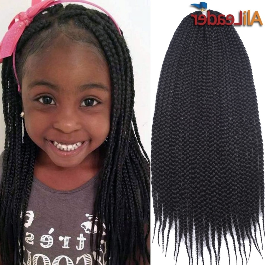 Cute Crochet Box Braids For Kids 22Roots/pack Senegalese Twist Hair Intended For Widely Used Cute Jumbo Twist Braids (View 2 of 15)