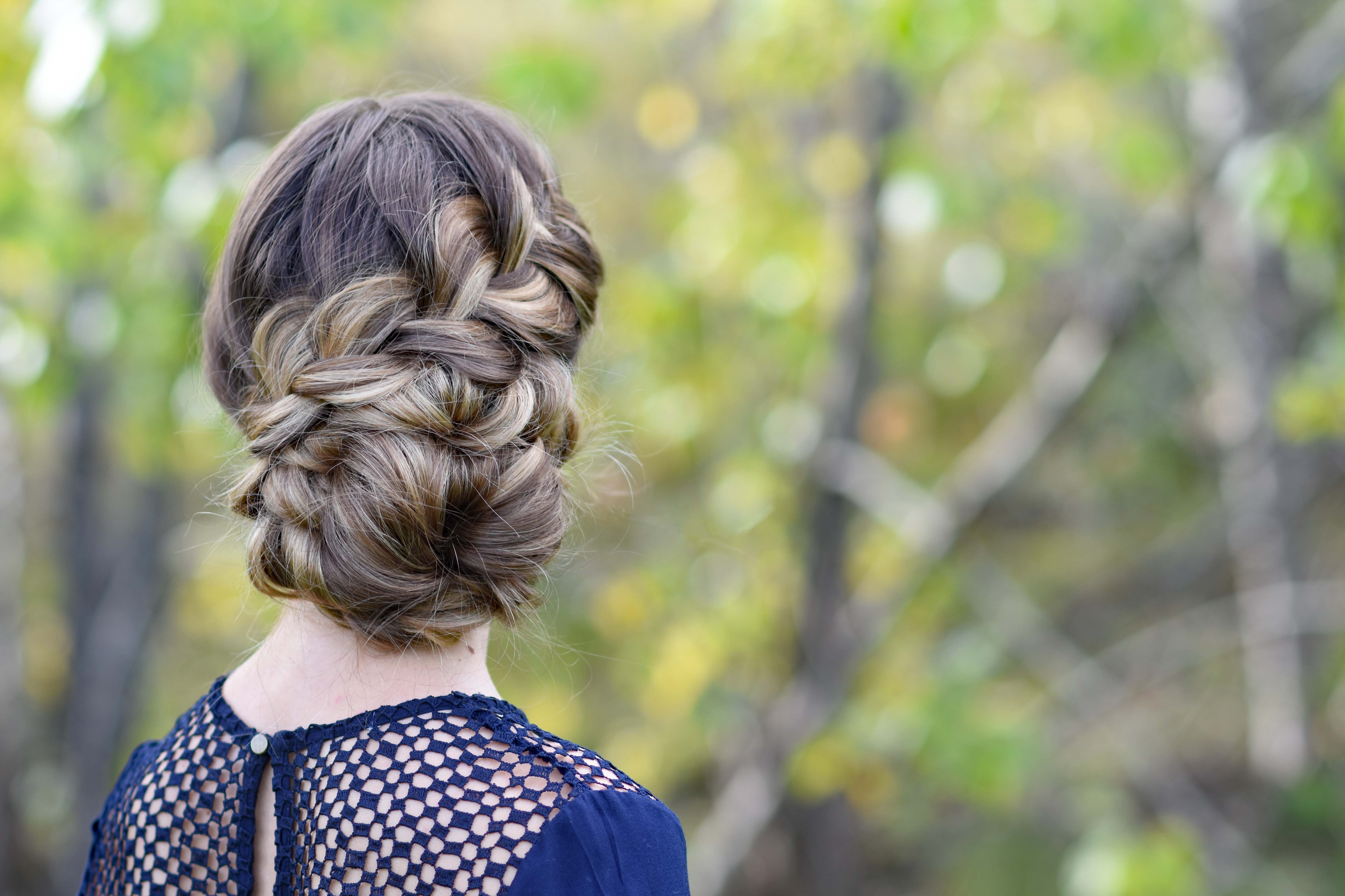 Cute Girls Hairstyles In Famous French Braid Updo Hairstyles (View 13 of 15)