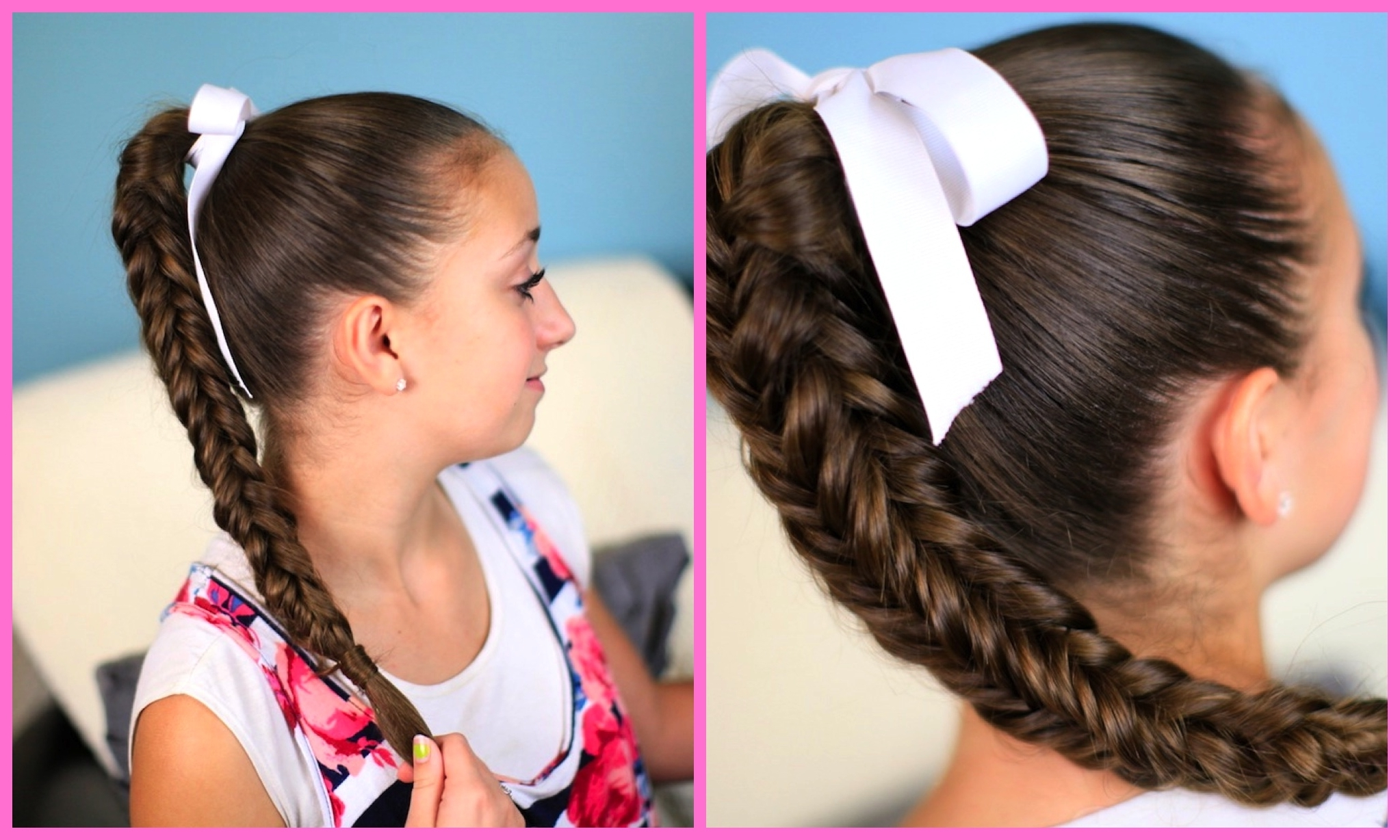 Cute Girls Hairstyles In Newest Ponytail Braids With Quirky Hair Accessory (View 4 of 15)
