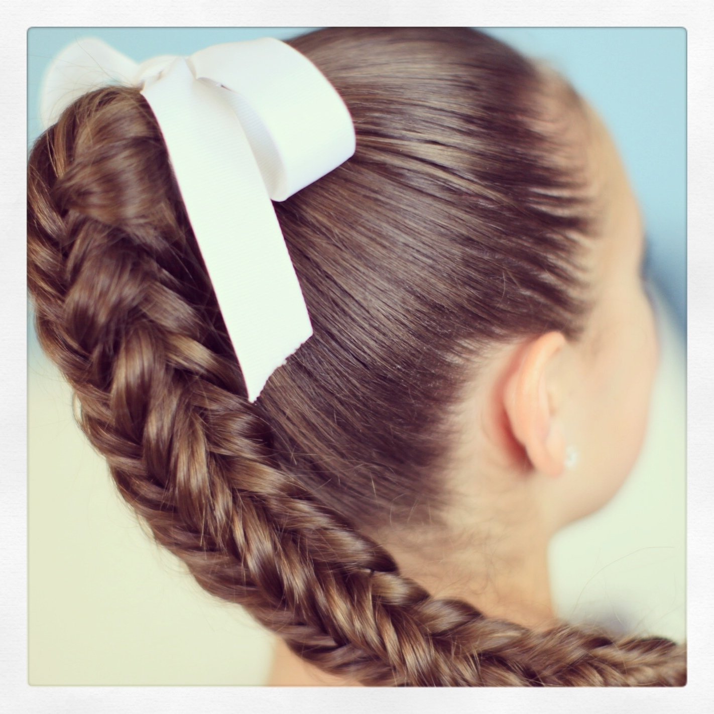 Cute Girls Hairstyles Inside Latest Wrapped Ponytail With In Front Of The Ear Braids (View 13 of 15)