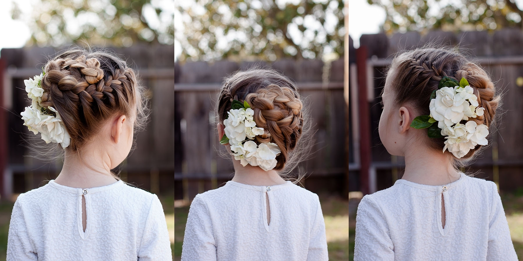 Cute Girls Hairstyles Pertaining To Well Liked Two French Braid Hairstyles With Flower (View 12 of 15)