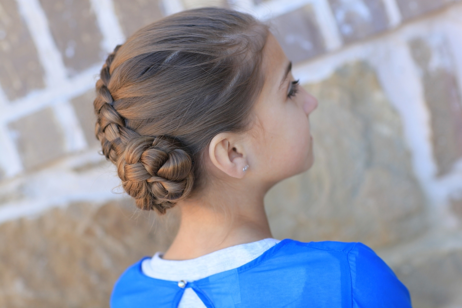 Cute Girls Hairstyles Pertaining To Well Liked Zipper Braids With Small Bun (View 3 of 15)