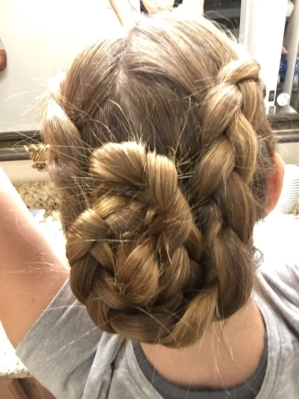 Cute Hair Updo!!! French Braided Pigtails Tied Together At The End In Well Known Pinned Up French Plaits Hairstyles (View 6 of 15)