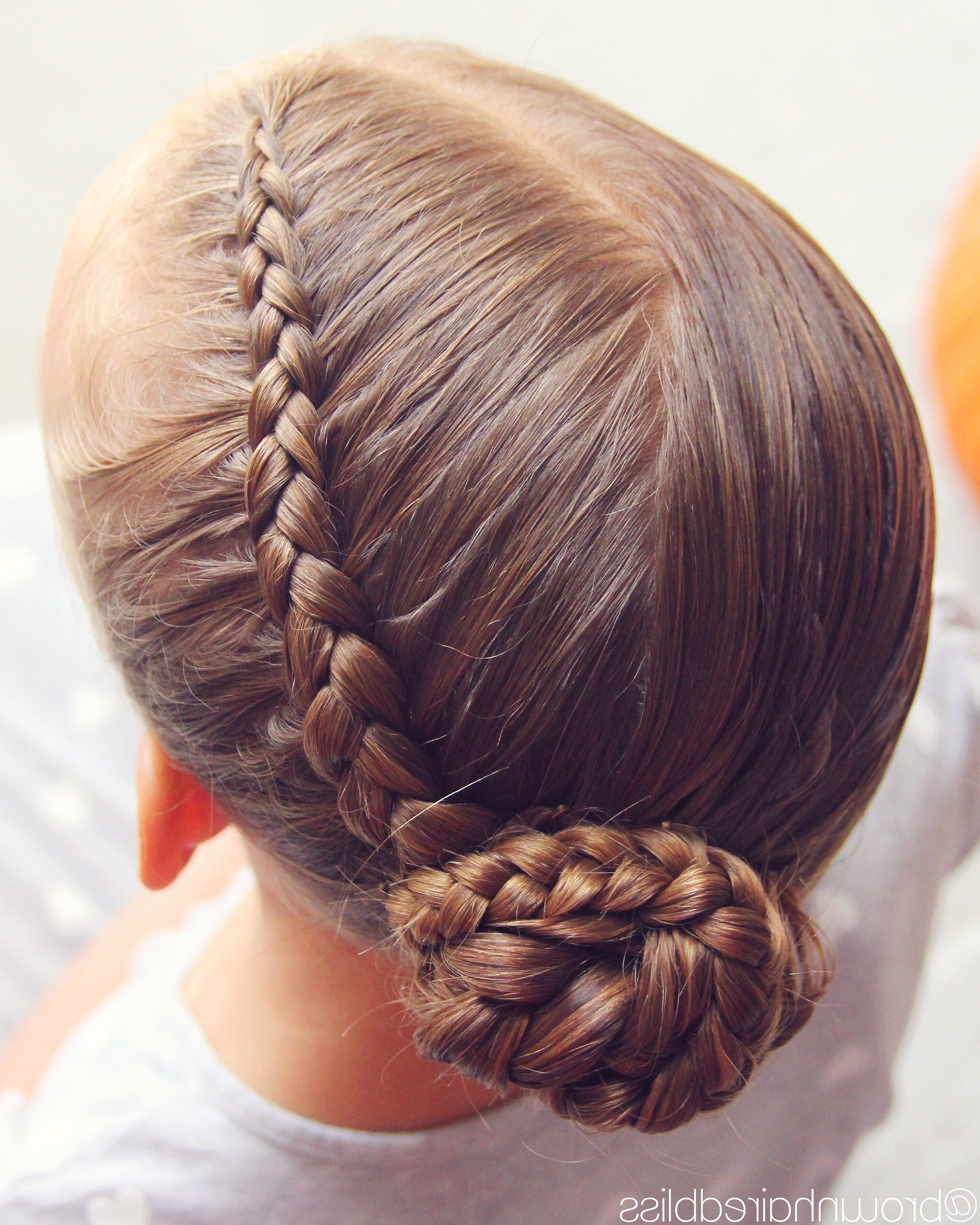 Diagonal Dutch Braid Into A Side Braided Bun – Pertaining To Recent French Braids Into Braided Buns (View 4 of 15)