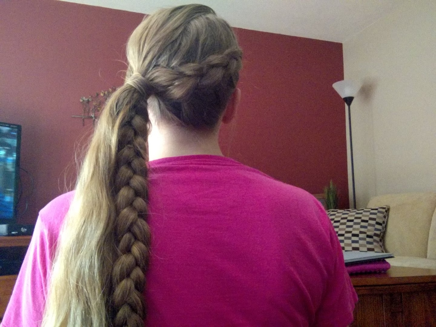 Diagonal Dutch Braid Into A Side Pony Tail – Youtube For 2017 Diagonally Braided Ponytail (View 6 of 15)