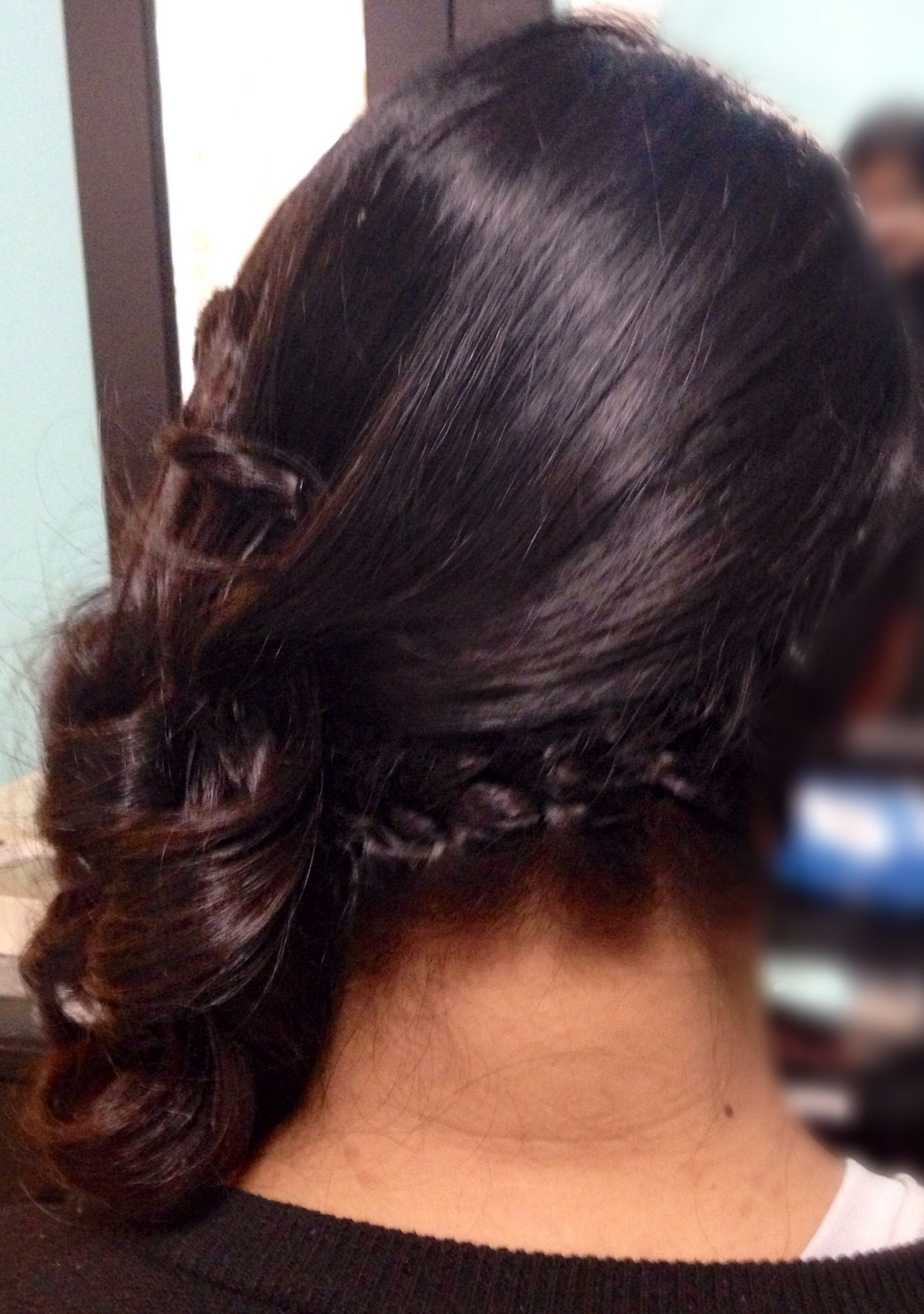 Diagonal French Braid Hairstyle, Side Swept With Curls Wedding For Best And Newest Diagonal French Braid Hairstyles (View 6 of 15)