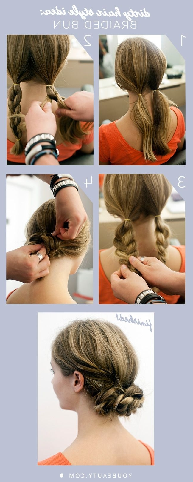 Dirty Hair Style Idea: Braided Bun (Gallery 12 of 15)