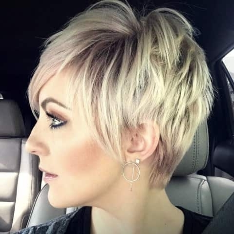 Disconnected Blonde Balayage Pixie – Haircut Styles And Hairstyles Pertaining To Well Liked Disconnected Blonde Balayage Pixie Haircuts (View 3 of 15)
