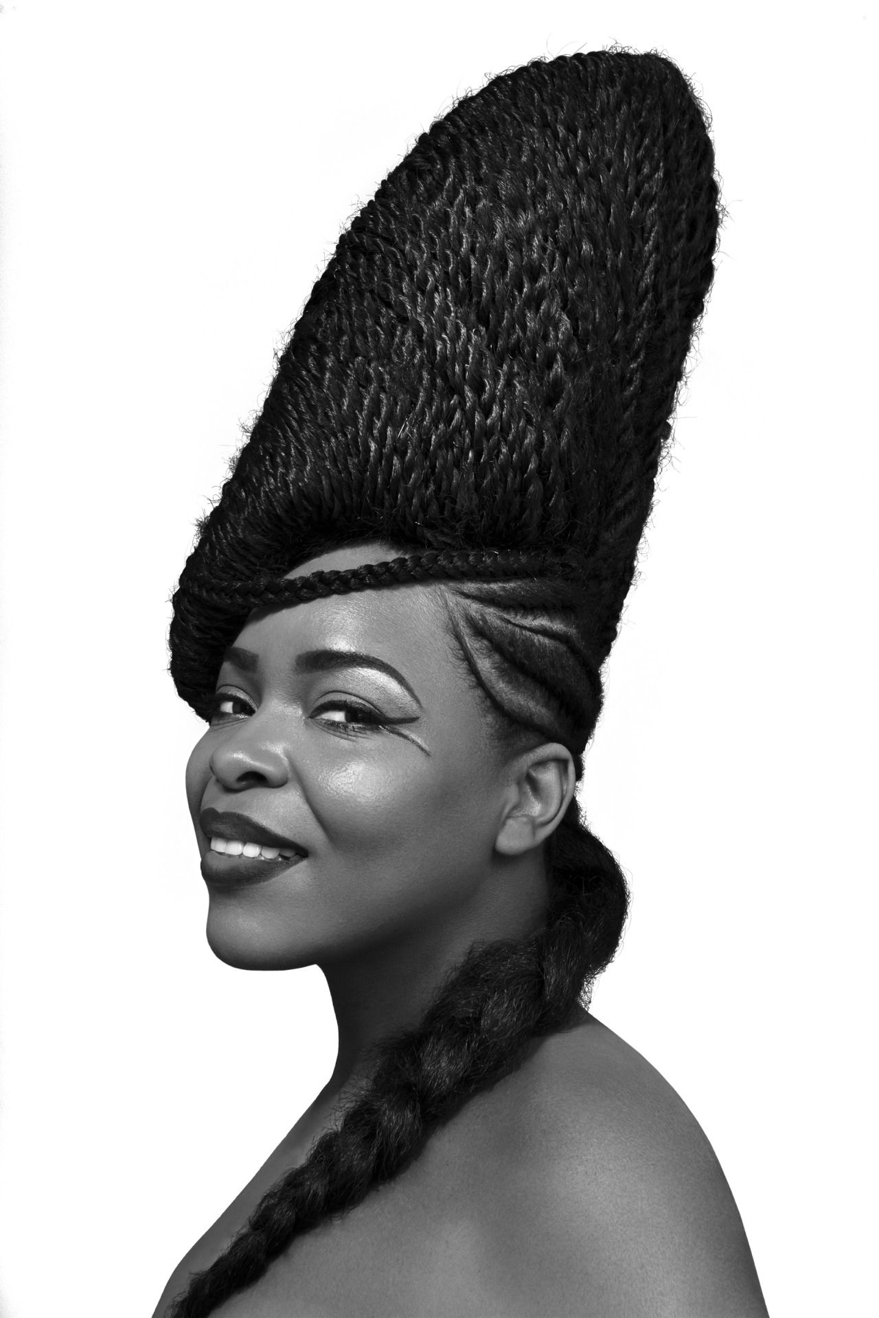 Discover This Incredible Nigerian Hairdo. Shuku Has Been Around For In Well Known Minimalistic Fulani Braids With Geometric Crown (Gallery 5 of 15)
