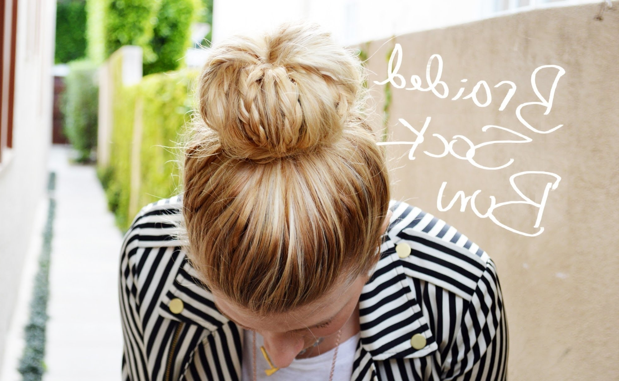 Diy Braided Sock Bun With Mr (View 6 of 15)