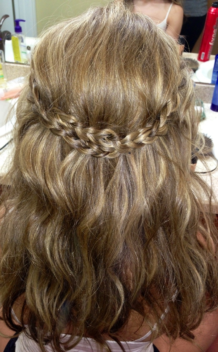 Diy Crown Braid Tutorial For Medium Long Hair 2018 Pertaining To Most Up To Date Crimped Crown Braids (View 6 of 15)