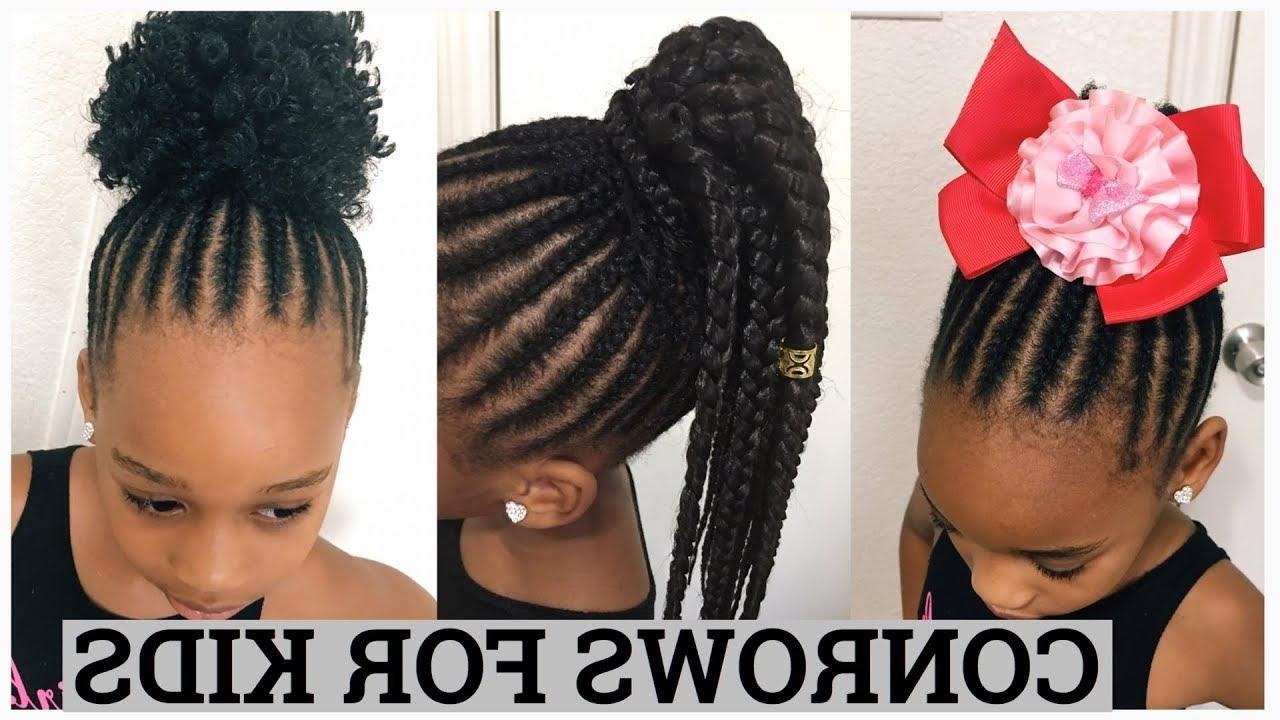 Diy Simple Cornrows For Kids – Youtube Intended For Well Known Simple Cornrows Hairstyles (View 8 of 15)