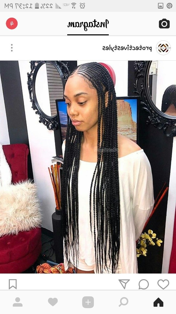 Don't Know What To Do With Your Hair: Check Out This Trendy Ghana Throughout Well Known Simple Center Part Fulani Braids With A Forehead Bead (Gallery 8 of 15)