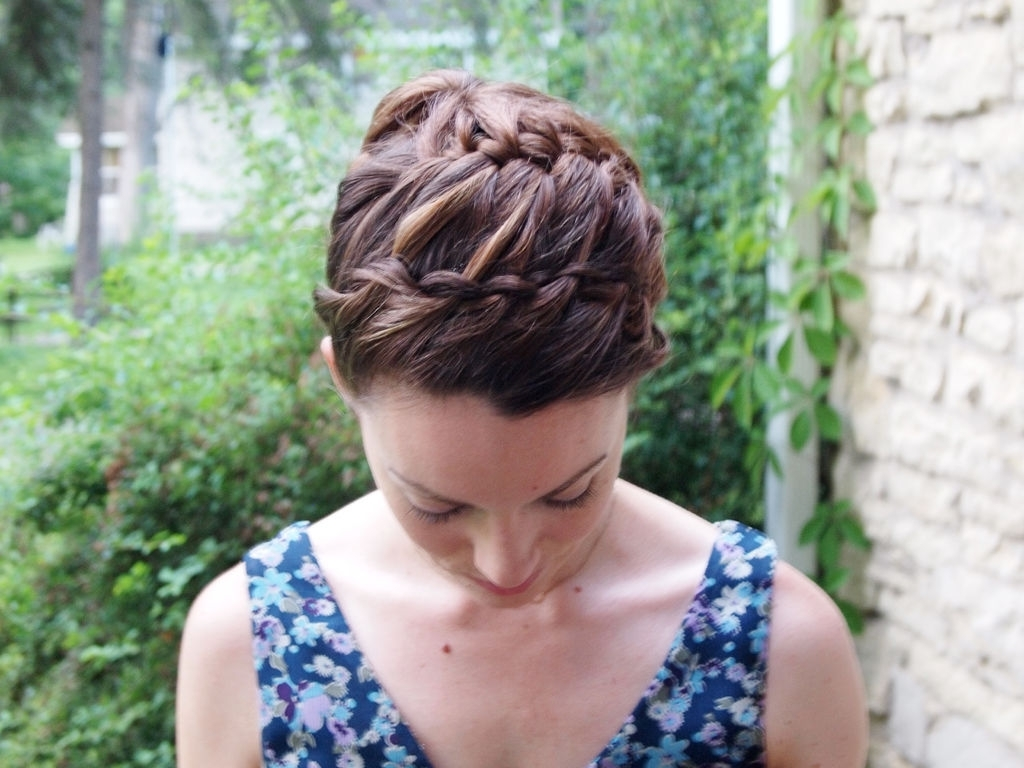 Double Braided Updo Hairstyle: 3 Steps (With Pictures) Within 2017 Double Braids Updo Hairstyles (View 6 of 15)