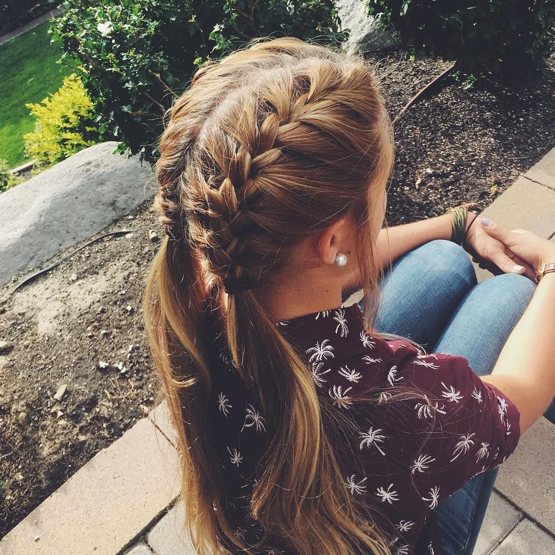 Double French Braids, French Pertaining To 2018 Double French Braids And Ponytails (Gallery 4 of 15)
