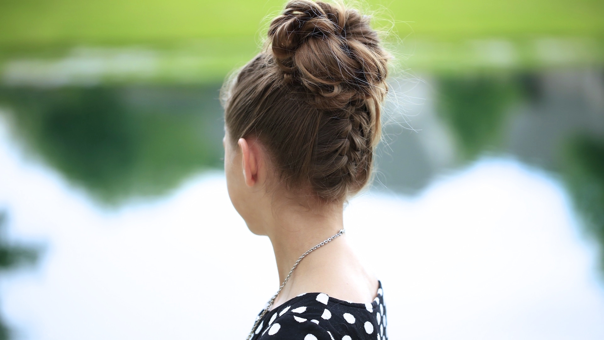 Double French Messy Bun Updo (Gallery 11 of 15)