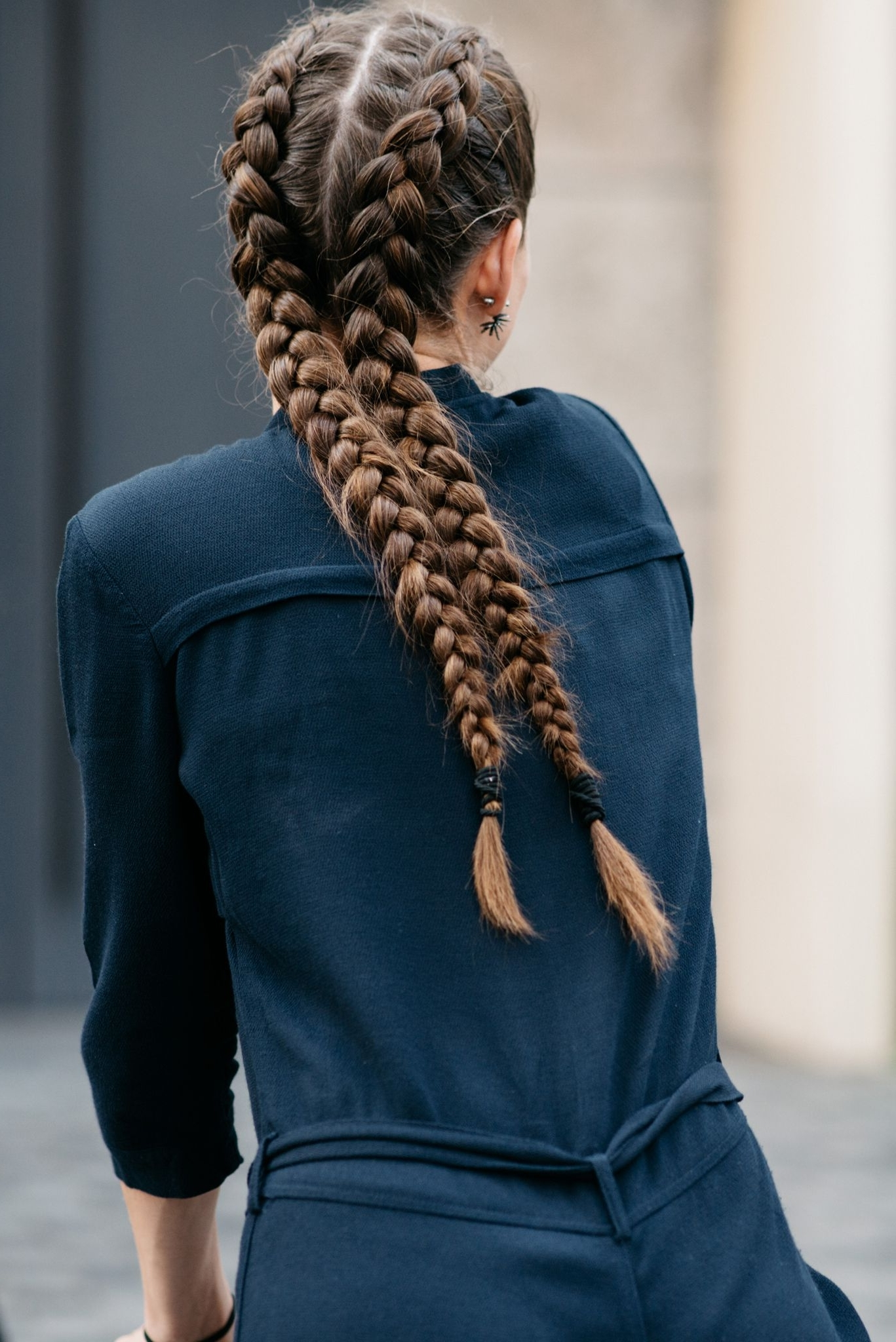 Double French Plaits (View 4 of 15)
