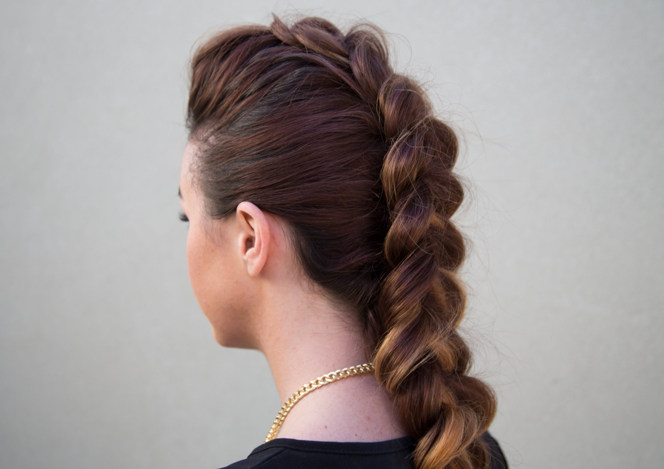 Featured Photo of Long Braided Faux Hawk