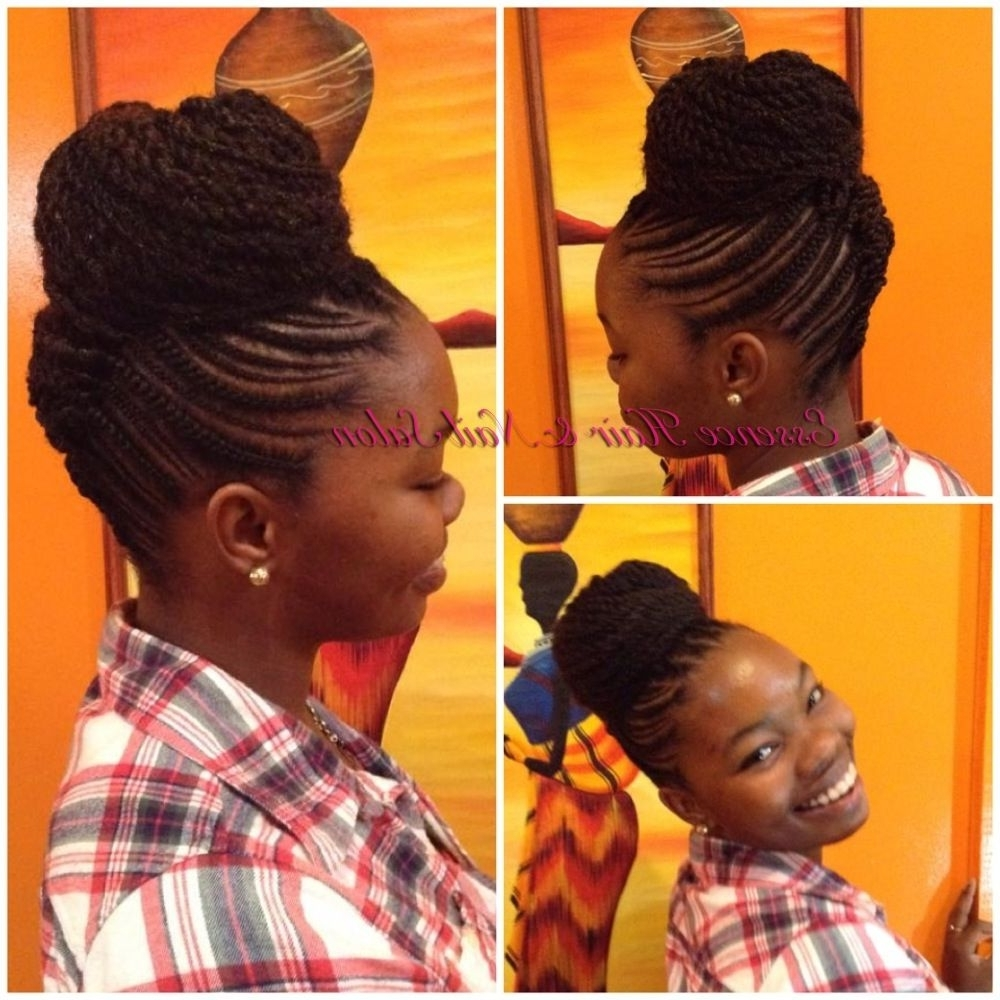 ❤❤❤Love This! #naturalhairstyles #hair #hairstyles #braiding In Best And Newest Youthful Fulani Crown With Horizontal Braids (View 1 of 15)