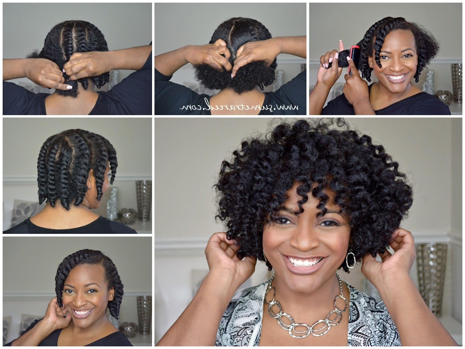 Easy Chunky Flat Twist Out Tutorial For Natural Hair (View 3 of 15)